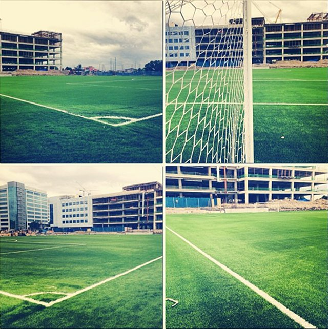 NEW UFL HOME. The McKinley Hill Football Field, the new home of the United Football League, is complete. Photo from the Twitter account of Santi Araneta.