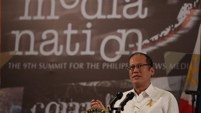 PRESIDENTS AND THE MEDIA. President Benigno Aquino III. Photo by Malacañang Photo Bureau