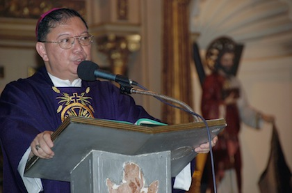CONTROVERSIAL BISHOP. Bishop Jesse Mercado of the Diocese of Parañaque is in the eye of a storm.