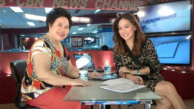"NO PLOTTER. Sen Miriam Defensor Santiago denies she is the one trying to unseat Senate President Juan Ponce Enrile but chose at least 3 possible replacements for him. She said, """"I'm not the kind to go around organizing political strategies. I'd rather stare blankly in space and contemplate on my existence."" Photo from Karen Davila's Twitter page"