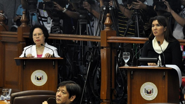 OVER AND OVER. RH bill sponsors Senators Miriam Defensor Santiago and Pia Cayetano look forward to the vote on the measure after answering questions over and over again for more than a year. File photo from Cayetano's Facebook page.
