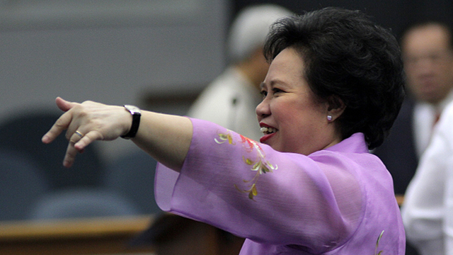 'CHURCH NOT PERFECT.' Sen Miriam Defensor Santiago says the Church is not perfect, adding that the time has come for the RH bill. Photo by Joseph Vidal/Senate PRIB