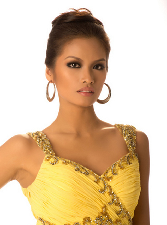 Miss Philippines Janine Tugonon's ballgown close up. Photo courtesy of the Miss Universe Organization LP, LLLP