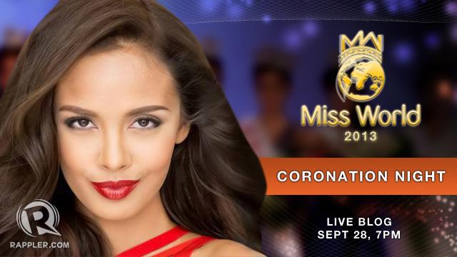 Live Blog: Miss World 2013 coronation night