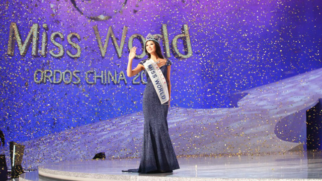WILL SHE HAVE A SUCCESSOR? Miss World 2012 Yu Wenxia. Photo from the Miss World Facebook page