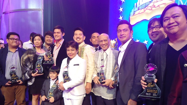 MMFF WINNERS pose after the awards ceremony on Thursday night. Photo by Jerald Uy