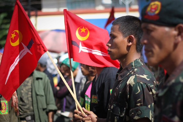 Members of the Moro National Liberation Front (MNLF) in Davao City. File photo by Karlos Manlupig/Rappler