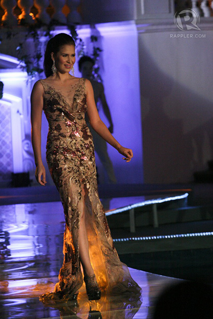 Miss Philippines Stephany Stefanowitz in the evening gown competition
