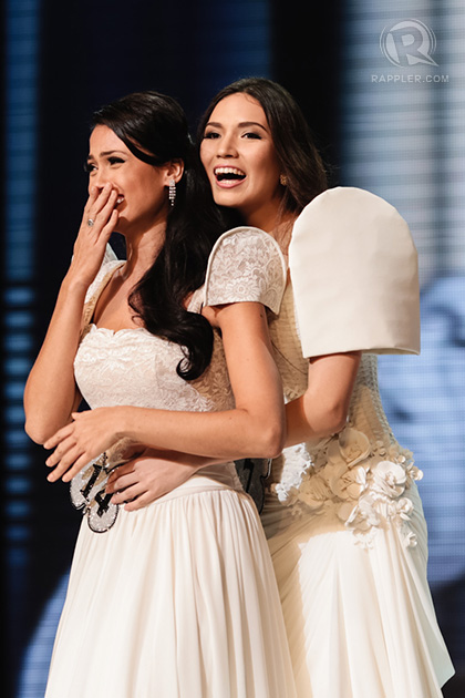 Alexandra and Michelle when the title winner was named