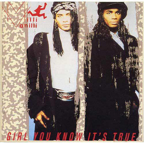 WHO KNEW THEY WEREN'T TRUE? Milli Vanilli's Rob Pilatus (left) and Fab Morvan as seen on the cover of the Grammy-winning (then losing) album 'Girl You Know It's True.' Photo courtesy of Bert Sulat