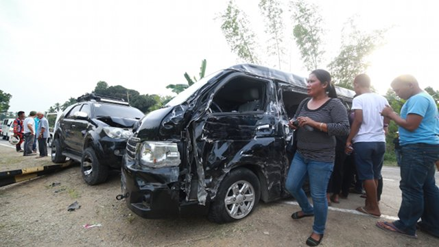ROAD MISHAP. Moro National Liberation Front leader Muslim Sema met an accident Friday, March 7, 2014. Photo by Rappler