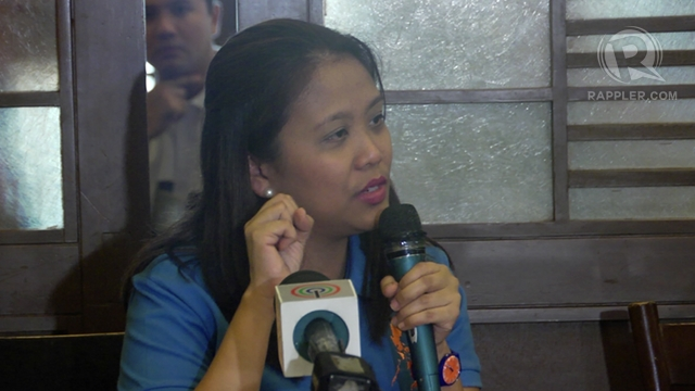 "NO DIFFERENCE? Nancy Binay said if the LP is also in favor of ""helping the Filipino people,"" then UNA shares the goal with its rival political group. Photo by Adrian Portugal"