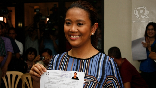 'DYNASTY OF SERVICE.' Nancy Binay, eldest daughter of Vice President Jejomar Binay, says she and her siblings were brought up for &quot;public service.&quot; File photo by Don Regachuelo 