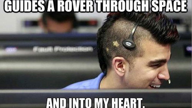 NASA MOHAWK GUY Bobak Ferdowsi, aka 'NASA Mohawk Guy'. Photo: Tumblr