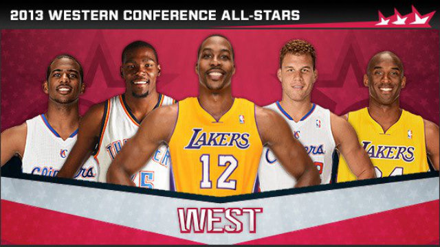 LOS ANGELES ALL-STARS? 4 out of 5 startes of the 2013 Western Conference All-Stars are from teams that are in the city of angels. Photo from NBA's official Facebook page.