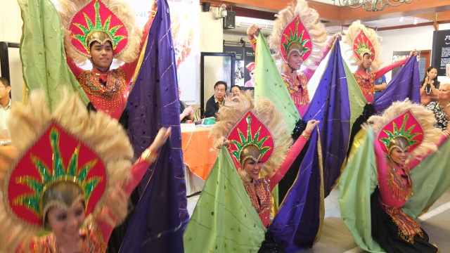 CELEBRATION OF SPIRIT. Dancers of the Halili Dance Troupe entertain guests at the launch of the Philippine Arts Festival in Intramuros. All photos by Pia Ranada
