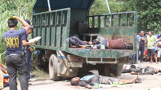 AMBUSHED. Victims of an ambush in Negros Occidental on Sunday, January 27.