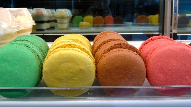SINK YOUR TEETH INTO one of these colorful macarons at Felicias. All photos by Andrea Lugue