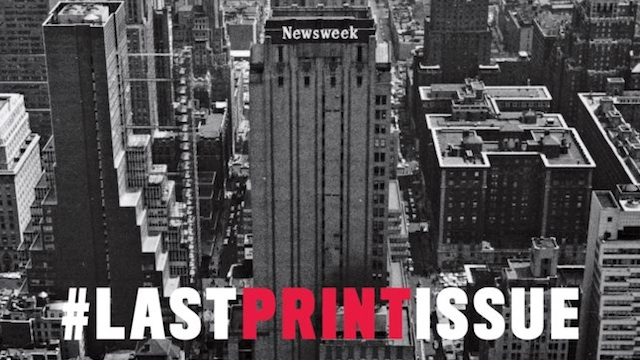 GOING DIGITAL. Newsweek makes the final transition to digital media after almost 80 years. Screenshot from Facebook page