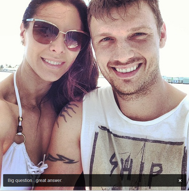 CONGRATULATIONS! Another celebrity milestone announced on social media. Photo from Nick Carter's Instagram