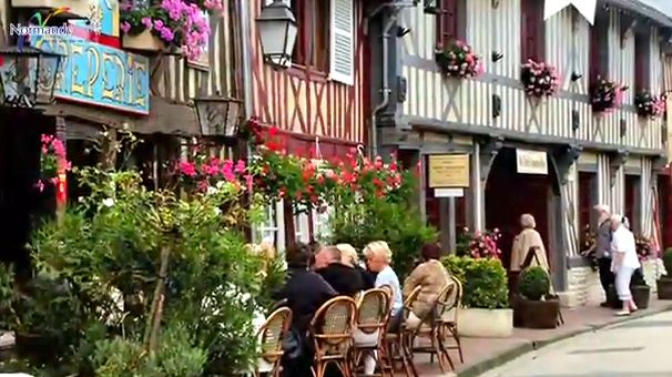 A SLICE OF LIFE in scenic Normandy, where people traditionally drink wine. Thanks to the Famous Knight, the French have opened up to English beer. Screen grab from YouTube