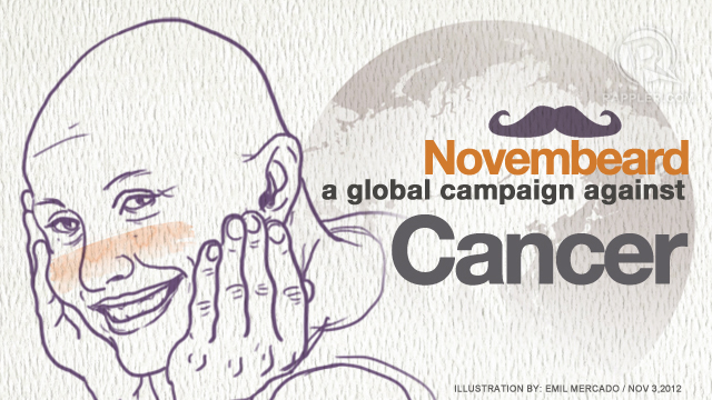 NOVEMBEARD. A month-long symbolic global movement among men to help combat cancer which is predicted to cause 17 million deaths by 2030 if not urgently addressed. 