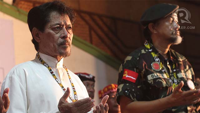 I HAVE NOTHING TO DO WITH IT. MNLF founding chairman Nur Misuari in Davao last Sunday, March 3. Photo by Karlos Manlupig
