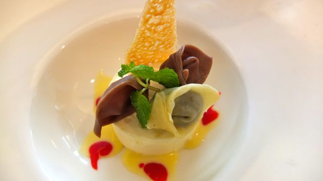 PASTA FOR DESSERT: DARK Chocolate and Vanilla Tortellini