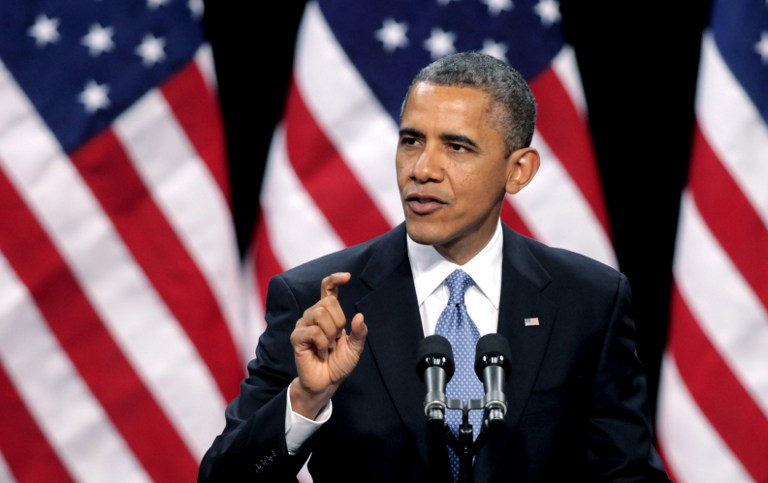 U.S. President Barack Obama delivers his address on immigration reform at Del Sol High School on January 29, 2013 in Las Vegas, Nevada. John Gurzinski/Getty Images/AFP