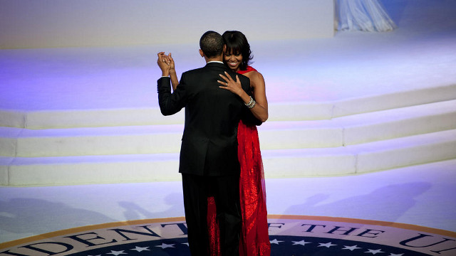 STARS OF THE NIGHT. Despite the many celebrities, the real stars were President Obama and his wife, Michelle (in a Jason Wu gown). Photo from the 2013 Presidential Inauguration Facebook page