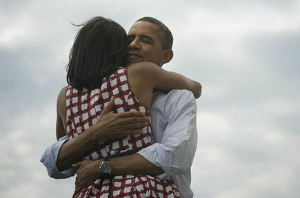 FOUR MORE YEARS. Barack Obama's official Twitter account posted this photo with his wife Michelle, after news of his victory. Photo courtesy of Barack Obama's Twitter account.
