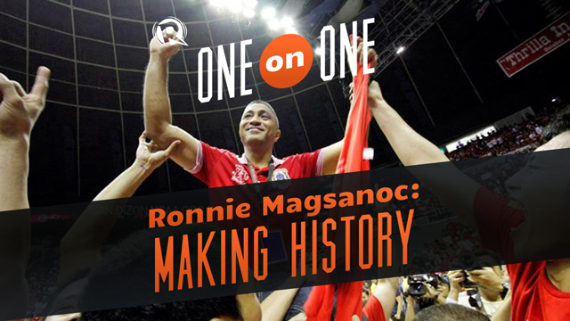 Ronnie Magsanoc right after San Beda won the NCAA88 title. Photo by Jan Dizon of ncaa.org.ph