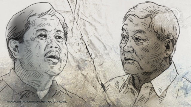 IN A BATTLE. Businessman Roberto V. Ongpin (right) slams the central bank for defending its official, Nestor Espenilla Jr. (left)