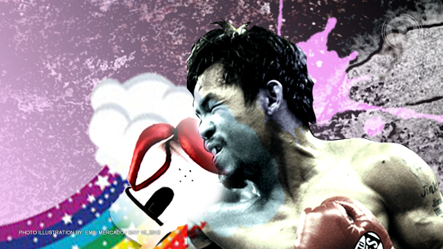 UNDER FIRE. Manny Pacquiao has not read Leviticus but believes gay marriage is a sin.