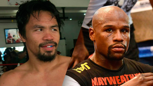The fight between Pacquiao and Mayweather has been highly anticipated for the past six years. Photo by Ethan Miller/Getty Images/AFP