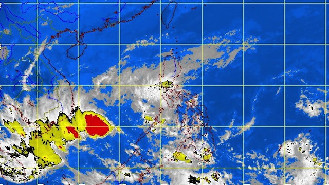 MTSAT enhanced satellite image as of 10:01 a.m., 22 February 2013