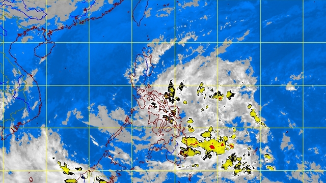 POTENTIAL STORM. A low pressure area draws closer to Mindanao. PAGASA satellite image as of 4:32 am