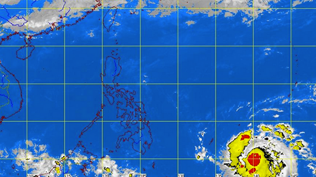 STRONGER STORM. 'Pablo,' which is approaching the Philippines, is deadlier than Sendong that killed over 1,400 in 2011. PAGASA satellite image as of 7:30 pm