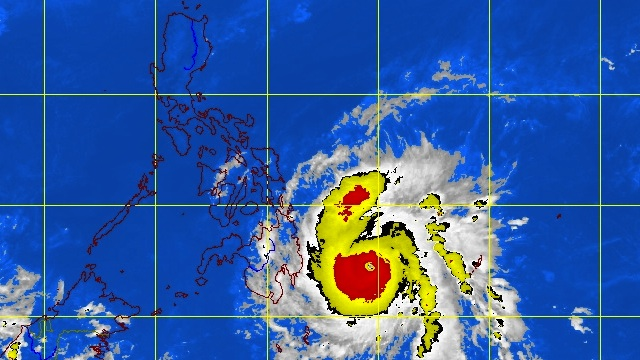 'PABLO' THREATENING MINDANAO, VISAYAS. Satellite picture of the storm at 4.30pm. Image courtesy of PAGASA