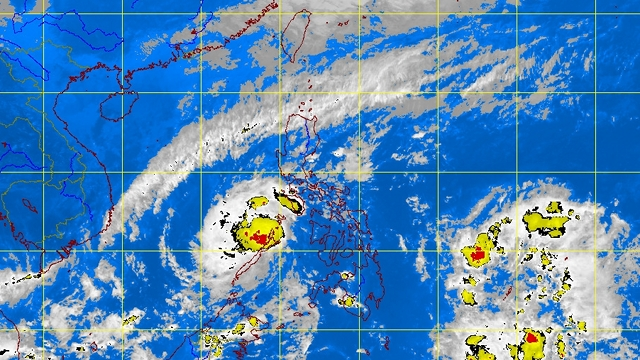 MAINTAINING STRENGTH. Typhoon Pablo keeps winds of 120 km/h based on PAGASA's 5 pm update. Image courtesy of PAGASA