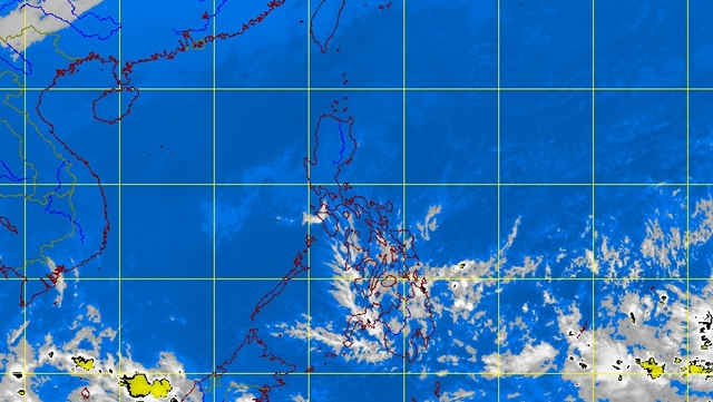 RAIN FRIDAY. Parts of eastern Visayas and northern Mindanao, among others, should prepare for rain Friday. PAGASA satellite image as of 4:32 am