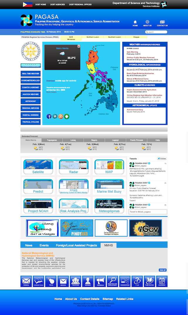 More weather info in redesigned pagasa site for Bureau weather
