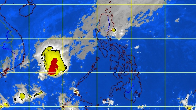 LOOMING OVER CORON. Satellite image at 5.30 am courtesy of PAGASA