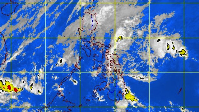 STORM SIGNALS LIFTED. Satellite image of the weather disturbance at 10.30 am courtesy of PAGASA