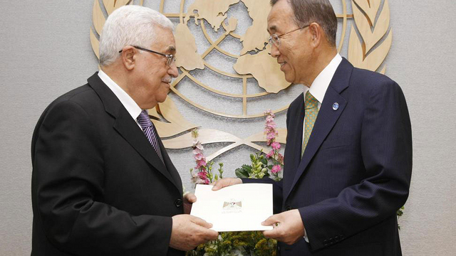 UN MEMBERSHIP. UN Secretary-General Ban Ki-Moon sends Palestinian application for UN membership to the Security Council. Photo from un.org