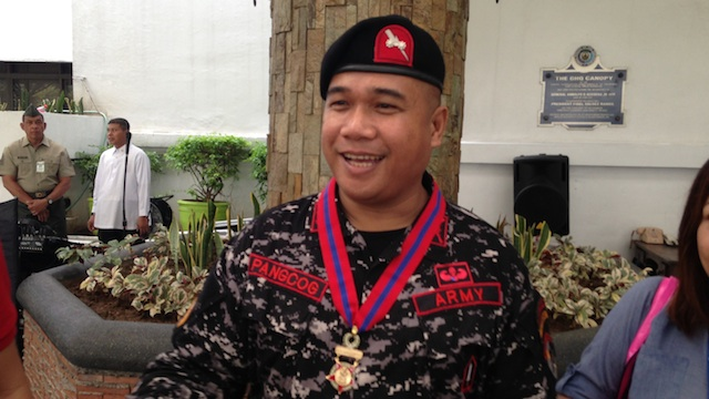 DISTINGUISHED CONDUCT STAR: Lieutenant Colonel Oriel Pangcog, battalion commander of the JSOG Task Force Arrow