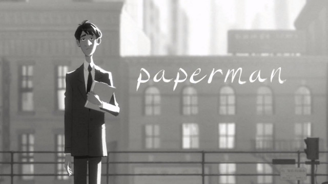 SEASON OF LOVE. Fall in love with the love story of 'Paperman.' Screen grab from YouTube (disneyanimation)