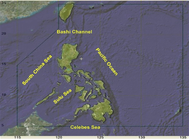 Screenshot of DOST illustration of the Philippine Area of Responsibility