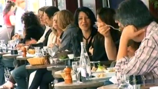 HAPPY DAYS OVER? What do loyal diners of Paris bars and restaurants have to say? Screen grab from YouTube (InnerRewardsInc)