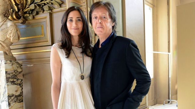 A BEATLE UNAWARE. Sir Paul McCartney, 70, and wife Nancy Shavell, 52, avoided a mishap and were apparently 'unaware.' Image from Facebook